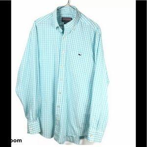 Vineyard Vines Mens Checkered Tucker Shirt Gingham
